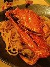 渡り蟹のスパゲティ