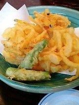 野菜のかき揚げ(750円)