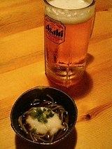 百太郎 生ビールと付だしの茶そば