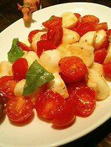 水牛のモッツァレラとプチトマトのカプリ島風サラダ