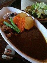 お豆さんと野菜の玄米カレーセット(1000円)