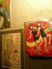 店内の壁面には懐かしい昭和の時代が・・・