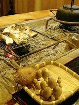 きのこの館 きのこ網焼き(1050円)