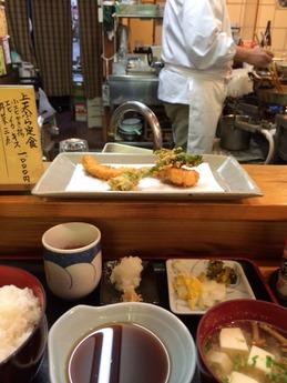 せき家 上天ぷら定食 1000円