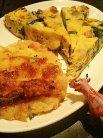 前菜の盛合せ(キッシュとベイクドポテト)