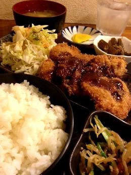 城うさぎ ヒレカツ定食 650円