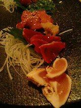 播州地鶏のお刺身ちょっとづつ盛合せ(800円)