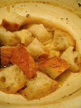 パンとチーズをぶち込んでチーズフォンデュ風に!