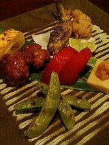 旬菜(鱧のフライ、出汁巻き、高野豆腐、トマト、鶏)