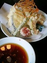 天ぷらをトッピングしてみますた