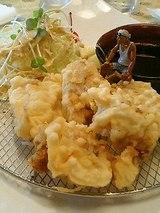 鱈の白子 くもこの天ぷら(1200円)