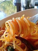 ル・パスタガーデン ベーコンとほうれん草のトマトベースパスタ