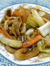 野菜とお肉を炒めたのん