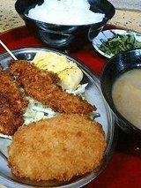 チキンカツ、サバ煮定食(998円)
