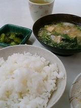 みなと食堂 めし中(150円) 豚汁(180円)
