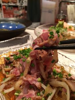 鉄ナベもり家 地鶏タタキ (1)