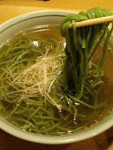 これが淡麺!ほうれん草が入ってます。