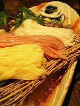 揖保の糸三色素麺(600円)