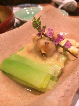 温 貝のネギ酢味噌 (1)