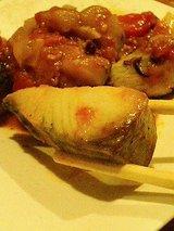 ミオ サワラのソテーピリ辛野菜のトマトソース(700円)