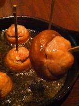 ハース マッシュルームの生ハム詰め ガーリックオイル焼き