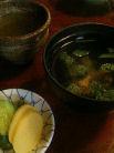 鰻の肝のすまし汁