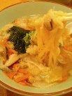 具だくさんスープ(麺入り)