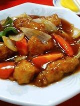 明珍 酢豚定食 850円