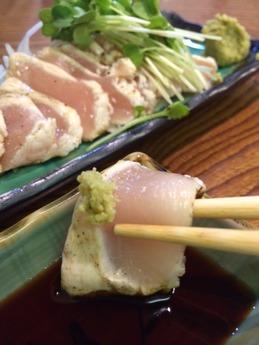 蕎麦切り戀 地鶏タタキ (2)