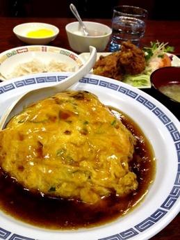 相生飯店 天津飯セット(甘酢)890円