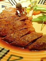 牛サーロインステーキ和風ソース