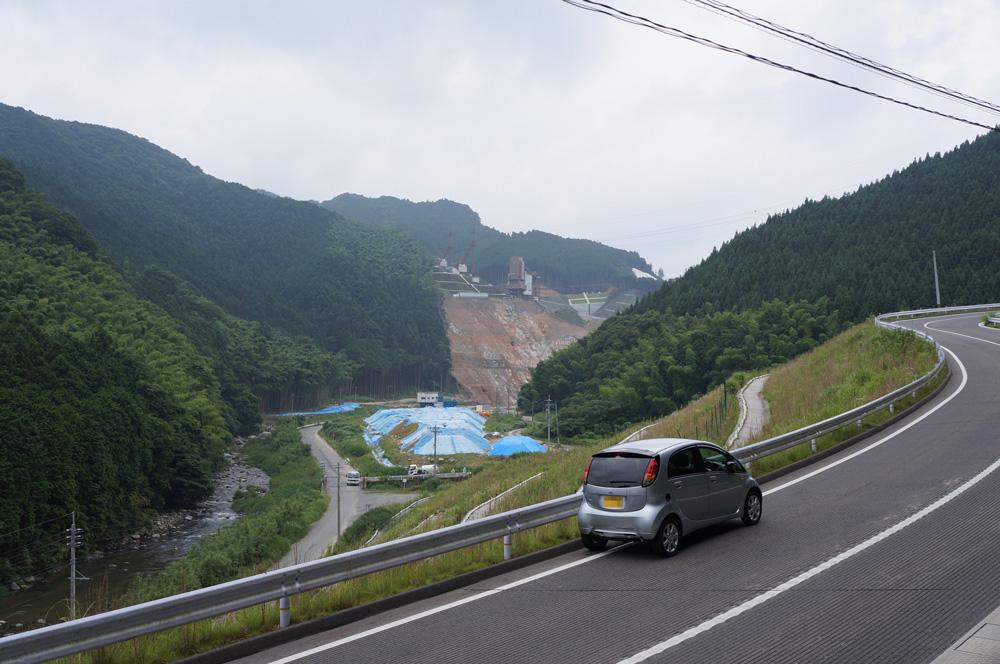 国道496号(伊良原ダム建設中) ...