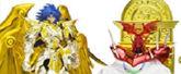 聖闘士聖衣神話EX 聖闘士星矢 ジェミニサガ(神聖衣)サガサーガプレミアムセット 約180mm ABS&PVC&ダイキャスト製 塗装済み可動フィギュア