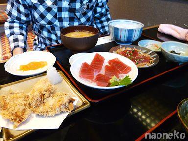 カツオのスタミナ揚げ定食
