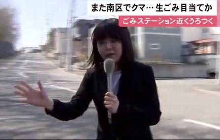 田中うた乃記者南区クマ取材