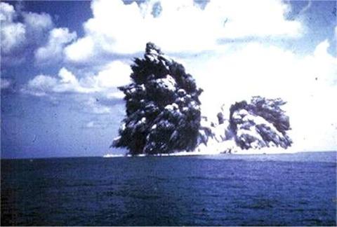 明神礁の大爆発
