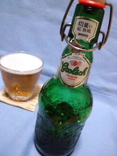 今夜は緑のビール