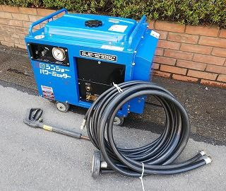 SS シンショー パワージェッター 高圧洗浄機 SJE-1218SC 洗浄ガン ホース付