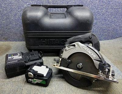 日立工機 HITACHI-KOKI 165mm コードレス丸のこ C3606DA 充電器 バッテリ ケース付