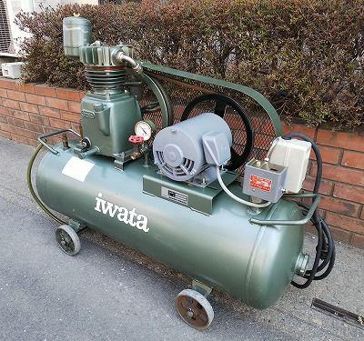 iwata 岩田 エアコンプレッサ SP-15NBR