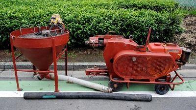 新明和 ShinMaywa プラスタリングマシン KM-50E EXEN KM3S-2P モルタルポンプ