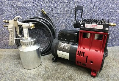 THOMAS SPRAYIT オイルレス コンプレッサー 塗装機 851-33A エアホース スプレーガン付