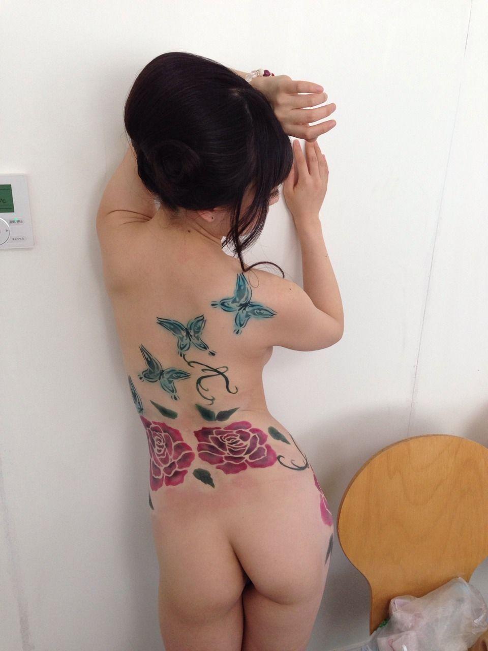 痴女 刺青 私の刺青は、こんな感じのオシャレなのだったんだー