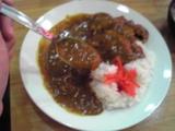 大沢食堂の大辛カレー。