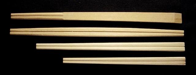 割り箸4本