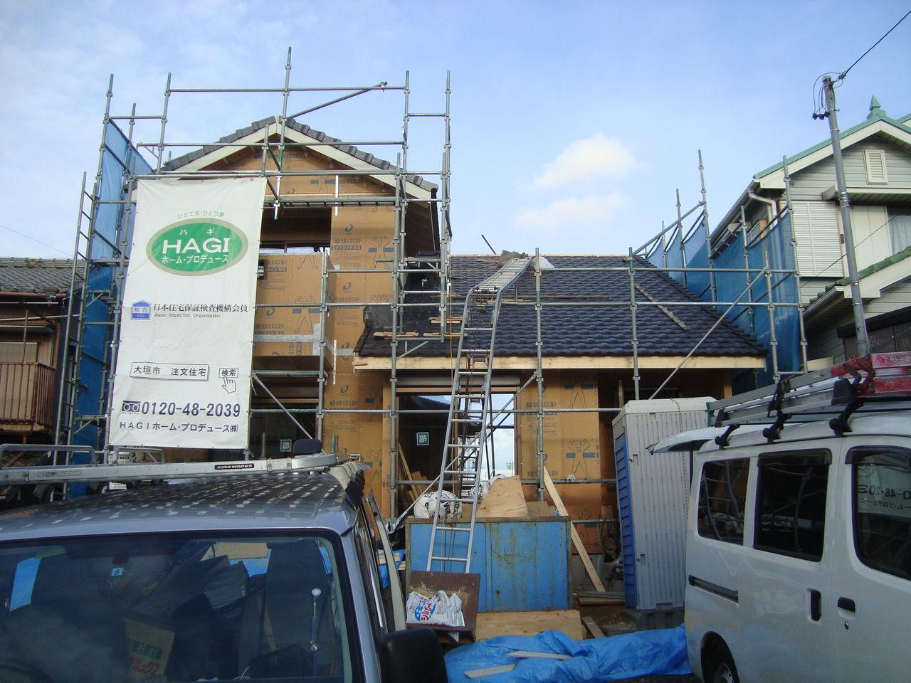 屋根工事完了