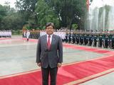 ベトナムでの歓迎式典