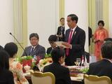 インドネシアの晩餐会でのジョコ大統領挨拶