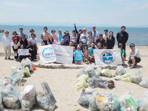 大野海岸清掃結果