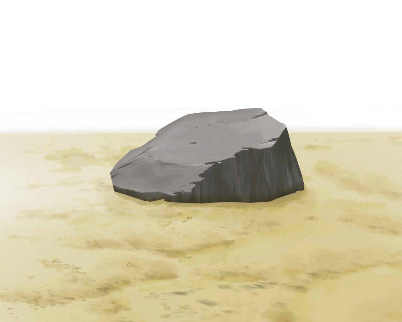 岩 カテゴリ 岩 背景CGテクニックガイドを参考に、よく描き方のわからなかった岩を描いてみました